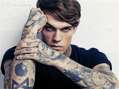 tattoo models on instagram man crush tattooed male model stephen james the dame