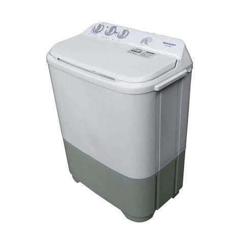 Mesin Cuci Sharp Plus Pengering jual mesin cuci sharp 2 tabung est65mw harga murah jakarta oleh mega elektronik