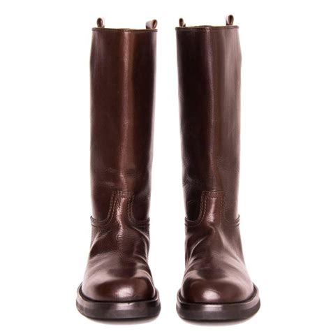 U Boat Ifo Brown Gold demeulemeester chocolate brown leather boots for sale