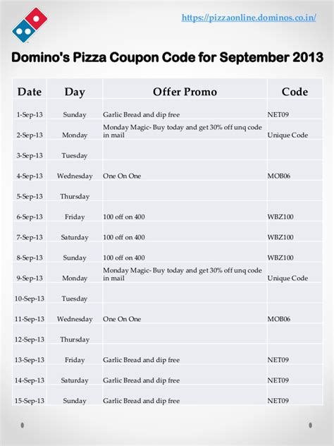domino pizza indonesia voucher code domino s pizza coupon code for september 2013