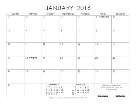 Calendar Templates Free 2016 2016 Calendar Templates And Images