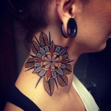 tattoo neck mandala 63 attractive mandala neck tattoos