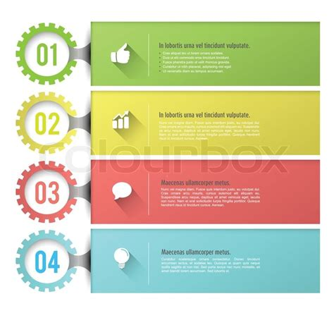 Vector Tab With Icons Can Use For Info Graphic Loop Business Report Or Plan Modern Tabbed Brochure Template