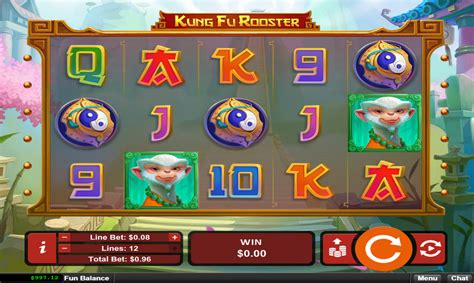 kung fu rooster slot machine  play   win jackpot