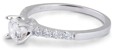 delicate simple engagement ring with diamonds 7925