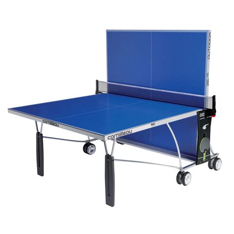 cornilleau sport 250s outdoor ping pong table blue