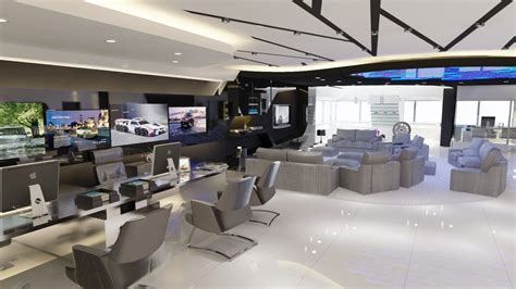Design Help Center | 3d visualization bmw service center in style techno