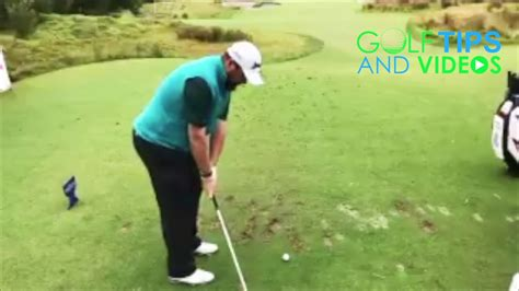 slow motion golf swing down the line shane lowry slow motion golf swing down the line youtube