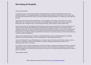 Bewerbung Anschreiben Zitate Anschreiben Als Verkaufsberaterin In Einer Drogerie Bewerbungsforum