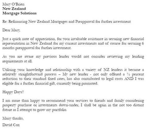 Unconditional Loan Approval Letter New Zealand Mortgage Solutions Study