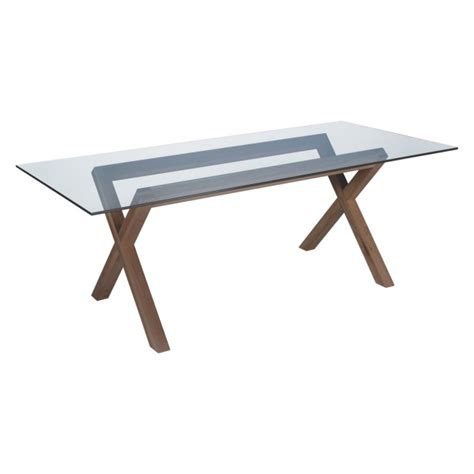Walnut And Glass Dining Table Dublin 8 Seater Walnut Stain And Glass Dining Table Buy Now At Habitat Uk