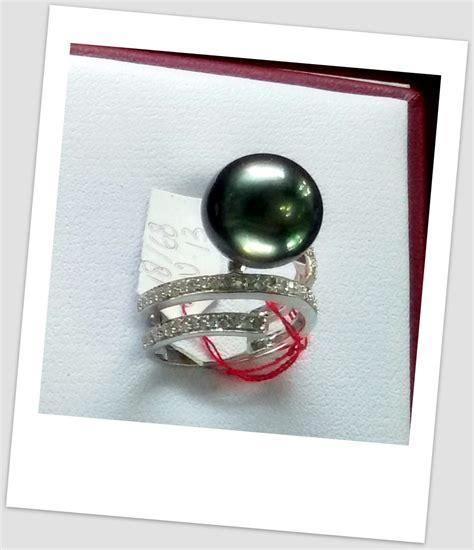 Cincin Handmade - handmade gold ring with south sea pearl ctr 122 harga