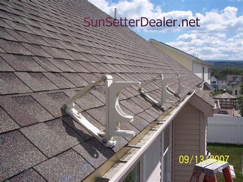 patio awning brackets sunsetter roof brackets patio awning roof brackets