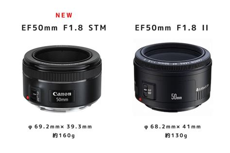 Lensa Canon Ef 50mm F1 8 New キヤノン ef50mm f1 8 stm vs ef50mm f1 8 ii 仕様比較 canonの 50mm f