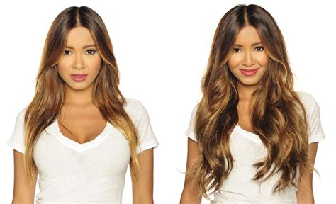 hair extensions before amp after