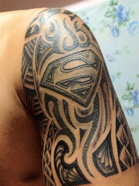 superman tribal tattoo designs superman tribal