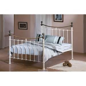 King Size White Metal Bed Frame Time Living Elizabeth White King Size Metal Bed Frame Bedswarehouse