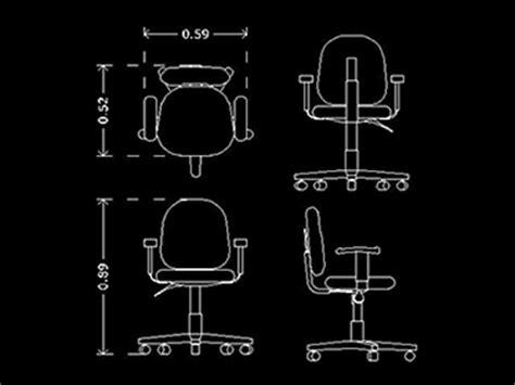 bloque autocad silla silla de oficina bloque de mueble de oficina autocad 2d