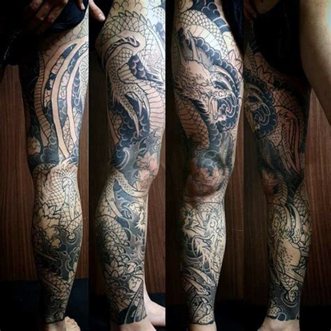 dragon tattoo on leg design 30 leg designs for masculine ink ideas
