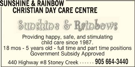 day christian review rainbow christian day care centre opening