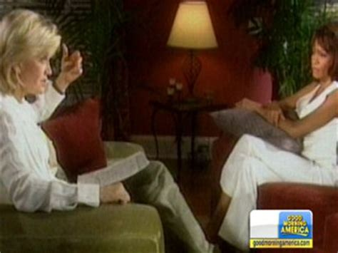 whitney houston and diane sawyer interview prescription drugs photos and images abc news