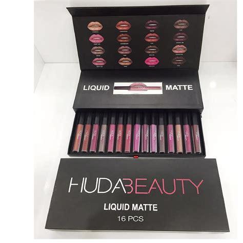huda liquid lipstick 16 pcs set original in