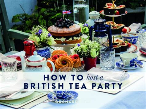 Orchard Blog   How to host a British Tea Party   Orchard Blog