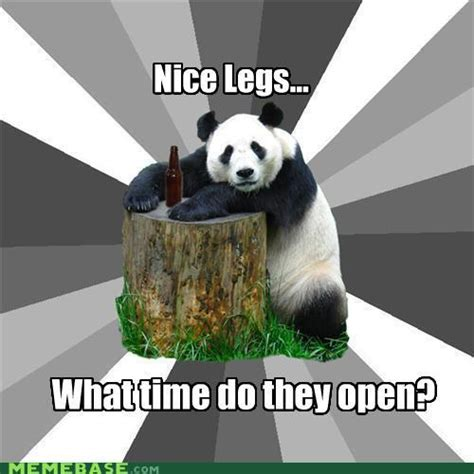 Pick Up Line Panda Meme - good thinking the memes