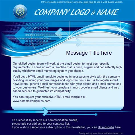 test html digital blue free html e mail templates