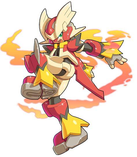megaman zx mega blaziken fusion mega zx by v a a n on