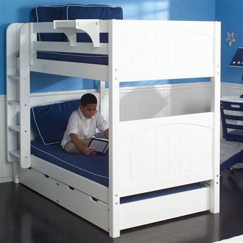 kids twin bunk beds twin bunk bed in white by maxtrix kids 700 0