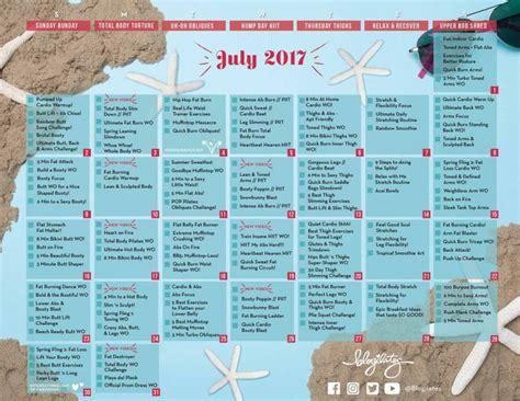 Blogilates Calendar Your July Workout Calendar