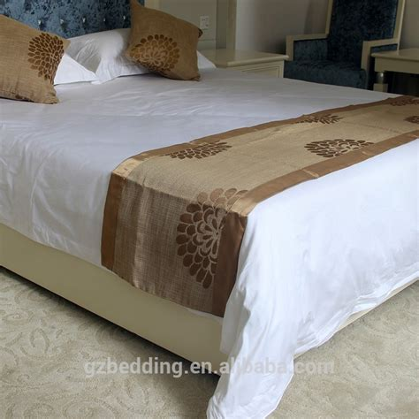hotel king size bed runner with different pattern and
