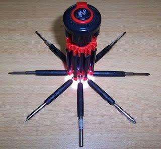 Dijamin Obeng Senter 8 In 1 Multifungsi tools obeng 8 in 1 lu senter multifungsi peralatan pertukangan 040 barang unik china
