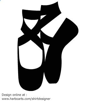 Balet Shoes 1 ballet shoes silhouette vector graphic template