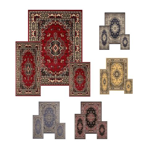 Rug And Runner Sets by Traditional Medallion 3 Pcs Area Rug