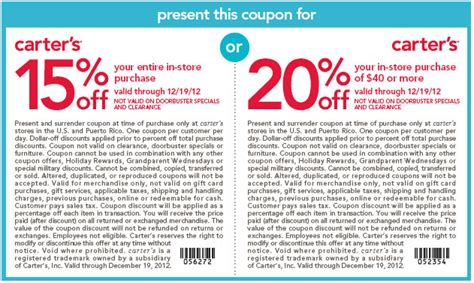 justice coupons 40 off printable 2012 20 off carters coupons codes october 2017 autos post