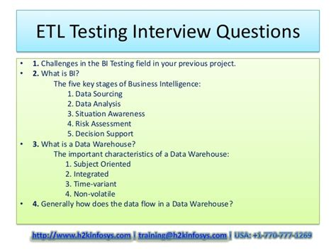 Sle Etl Test Cases by Etl Testing Questions And Answers