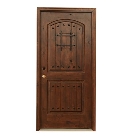 Knotty Alder Exterior Doors Carrick Exterior Knotty Alder Carriage Collection Chocolate Single Door Knotty Alder 82 Quot X38