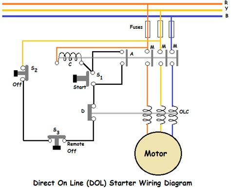 dol starter diagram direct on line dol starter wiring diagram eee community