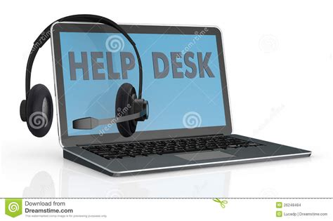 Laptop Help Desk Concept Of Help Desk Service Stock Images Image 26248484