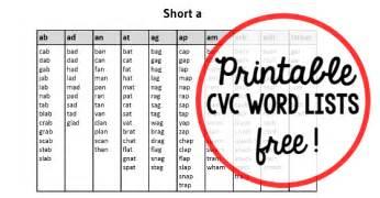 free printable cvc word list the measured