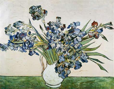 Vase Of Irises Vase D Iris Peinture Huile Sur Toile De Vincent Van Gogh