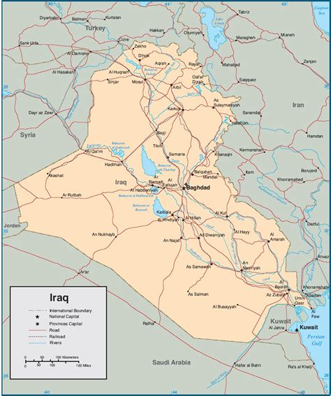 map for iraq the missing
