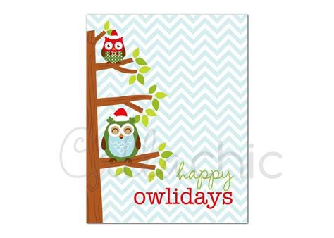 printable owl card 4 best images of printable christmas thank you cards owls