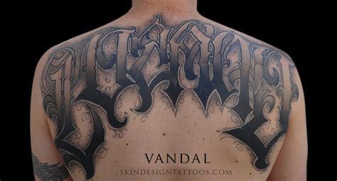 skin design tattoo las vegas las vegas lettering script tattoos by vandal skin