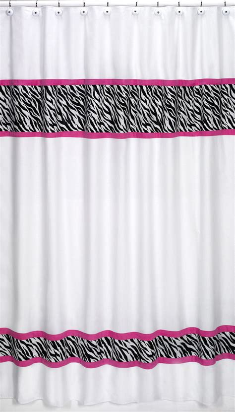 pink zebra curtains sweet jojo design pink black funky zebra kid bathroom
