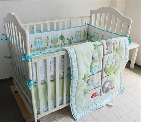 Owl Crib Bedding Boy Baby Nursery Decor Awesome Trunk Homes Baby Boy Owl Nursery Bedding Crib Decoration Sets Cotton