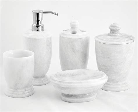300wz5 white marble bathroom accessories set
