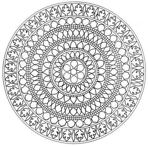 difficult mandala coloring pages printable mandala coloring pages